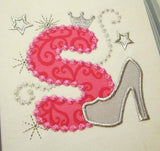 Silver Pink Girly Glamour Alphabet AL005