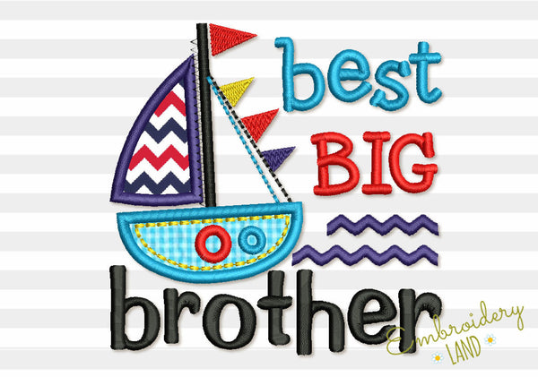 Best BIG Brother and Ship Applique BA032