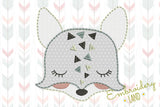 Fox Hand Stitch Free Edge Applique AN032
