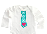 Heart Tie Applique VA044