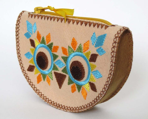 Owl Bag Purse In The Hoop Embroidery Project By