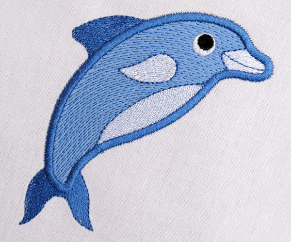 Dolphin Machine Applique AN003