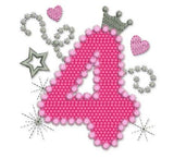Bithday Number 4 Applique HB004