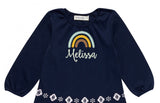 Rainbow Free Edge Applique DE089