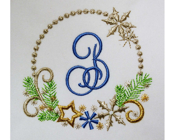 Christmas Frozen Font Frame Embroidery Design CHR032