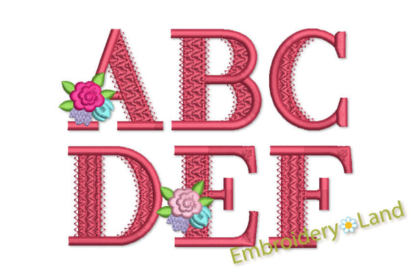 Coupon Codes! Alphabet Flower Font AL033