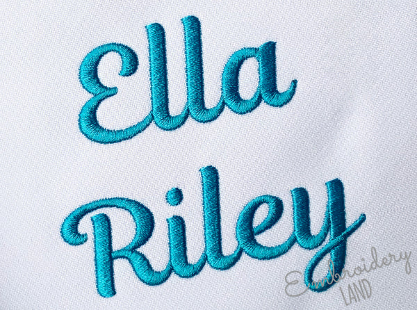 BX included! Satin Alphabet Ella 5 sizes AL095