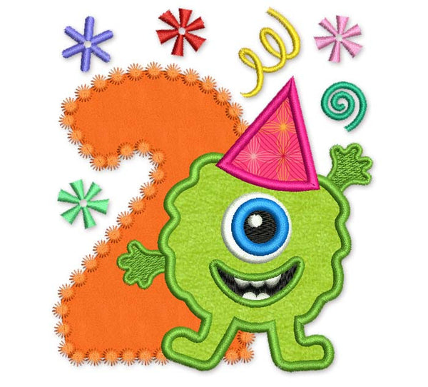 Monster Number 2 Applique HB007