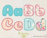 Motif Applique Alphabet Font AL035