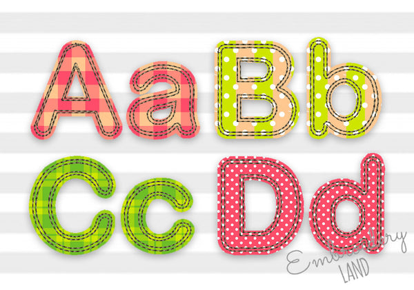 Raggy Applique Alphabet Font AL101
