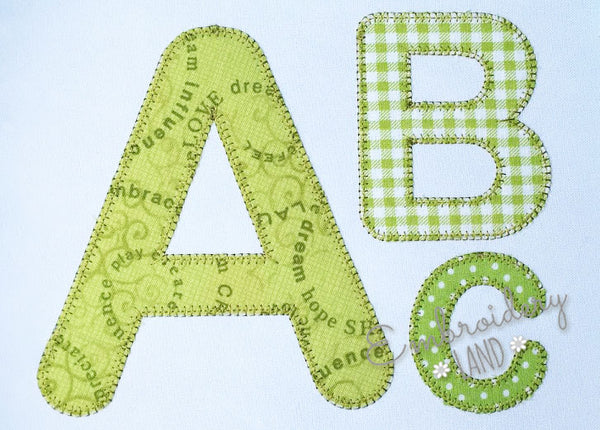 Blanket Stitch Applique Alphabet AL073