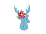 Christmas Deer Filled Stitches Embroidery Design CHR040