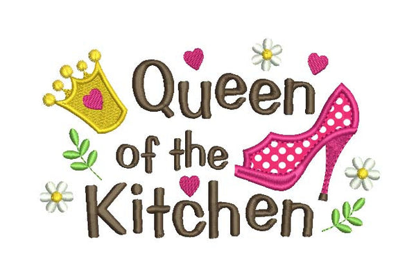 Queen of the Kitchen Applique DE015