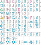 Coupon Codes! BX included! Applique Alphabet Font  AL030
