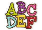 BX font included! Smarty Applique Alphabet AL020