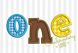 One Biirthday Applique HB084