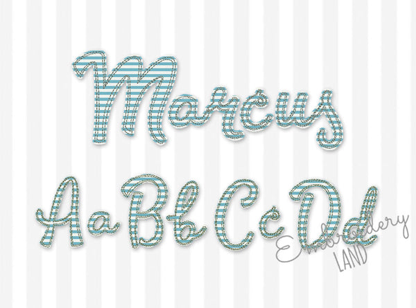 BX font included! Free Edge Raggy Applique Alphabet AL091