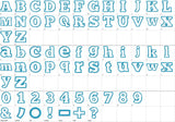 Coupon Codes! BX font included! Applique Alphabet Font AL034