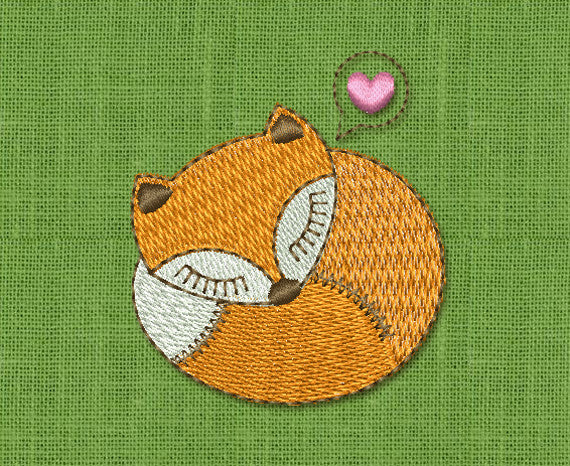 What Does the Fox Say? Embroidery Design AN008