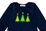 Three Christmas Trees Applique CHR074