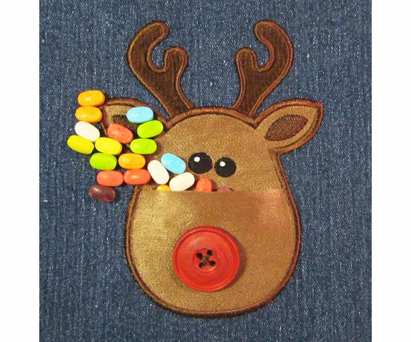 Real Pocket Christmas Deer ITH Project ITH014