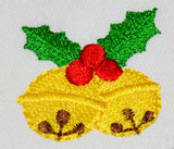 Jingle Bells Christmas Filled Mini Embroidery Design CHR076