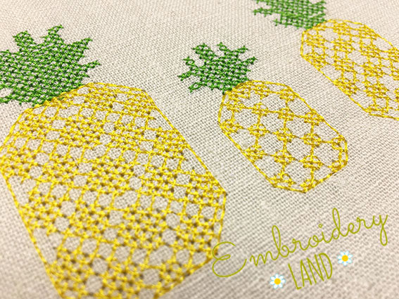 Pineapple Cross Stitch DE045