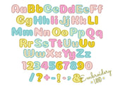 Satin Applique Alphabet Font AL036