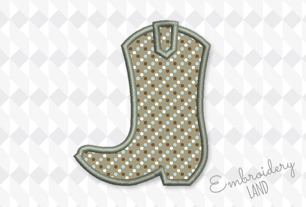Cowboy Boot Applique DE092