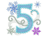 Ice Princess Number 5 Applique HB026