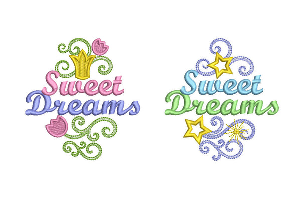 Sweet Dreams Embroidery Designs Set for Boys and for Girls DE016