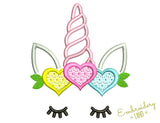 Cute Unicorn Heart DE069