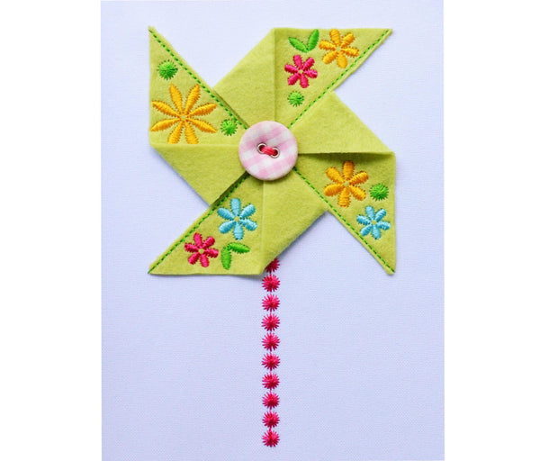 Flower Felt Pinwheel In-the-Hoop Project ITH012