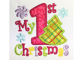 My first Christmas Appliqué CHR048