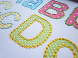 BX font included! Rounded HandStitch Appliqué Alphabet AL012