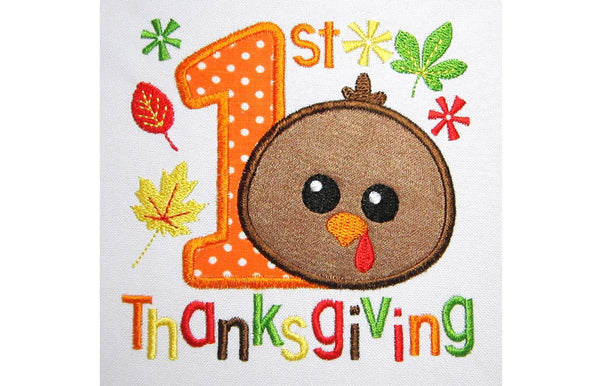 My 1st Thanksgiving Applique TG007