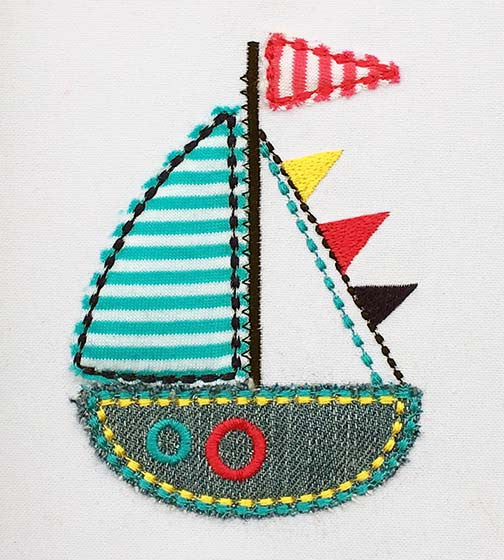 Sailing Ship Applique DE029