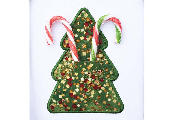 Christmas Tree Real Pocket Applique ITH Project ITH021
