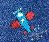 Airplane Mini Embroidery Design BA056