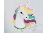 Unicorn Filled Embroidery design AN063