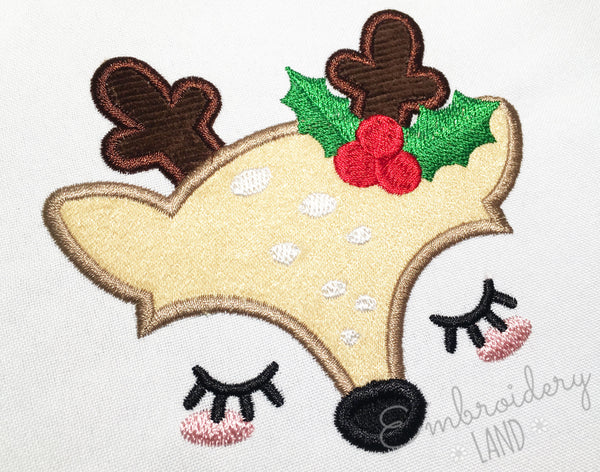 Cute Holly Reindeer CHR095