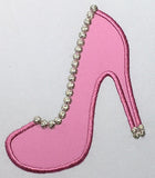 High Heel Pearl Stitch Women's shoes Applique GRL015