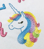 Unicorn Embroidery Design BA036