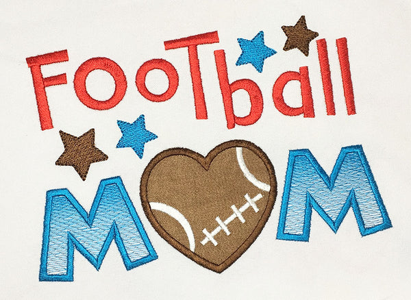 Football Mom Applique SP019