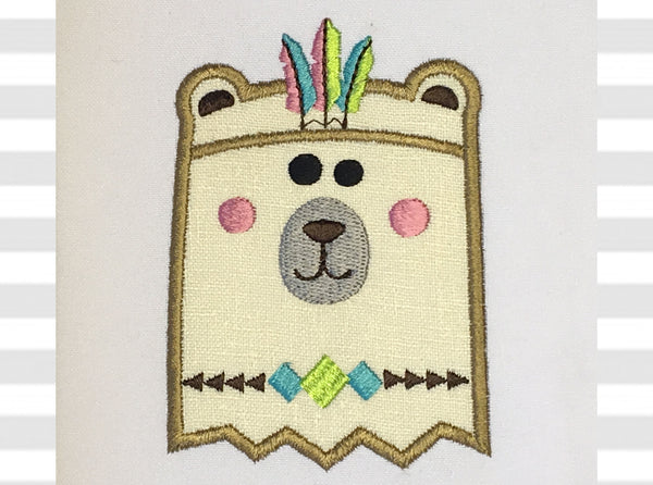 Big Brother Bear Native Applique AN041