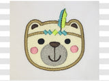 Lil Brother Bear Native Applique AN042