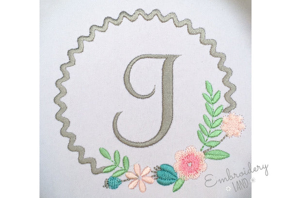 Flower Monogram Frame FF026