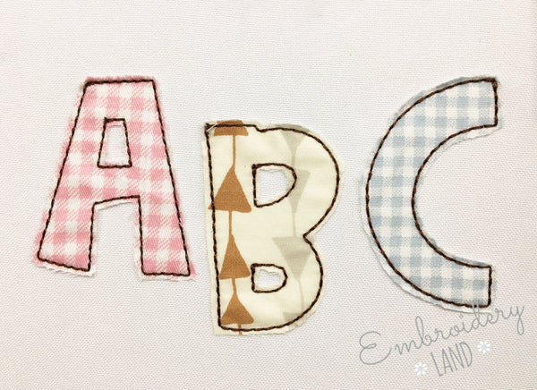 Raggy Applique Alphabet AL060