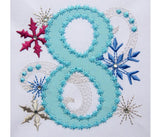 Ice Princess Number 8 Applique HB031