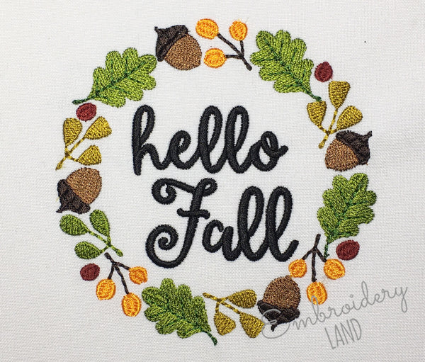 Acorn Frame Set Hello Fall FF038